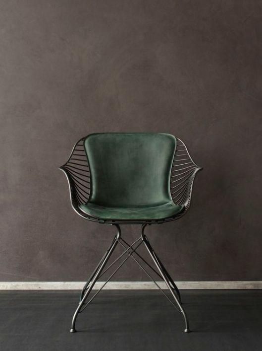 leatherwirediningchair