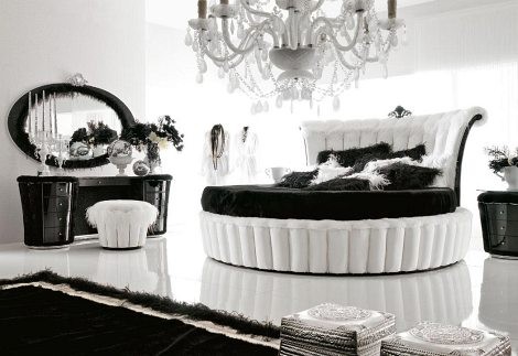 black deco room